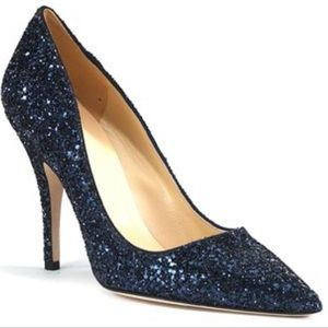 Kate spade Licorice foo glitter pumps